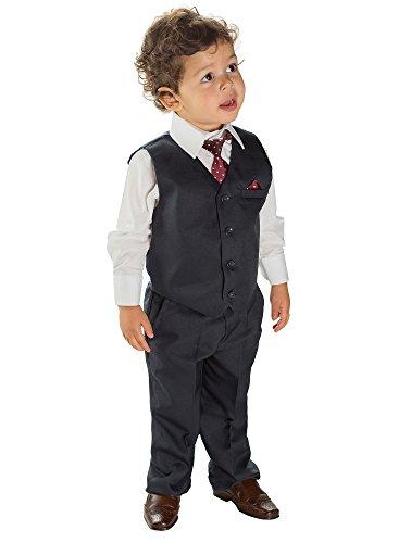 Paisley of London, Marineblau Jungen folgt, Kostüm Jungen Stinkefinger, Weste Kostüm, Jungen Kostüm Hochzeit, 3Monate-8Jahr Gr. 6 - 7 Jahre, Blau - Marineblau (Kostüm Avec Gilet)