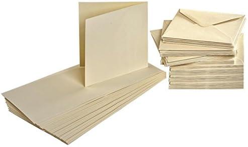 Cartes doubles doubles Cartes avec enveloppes, 100 pc., Crème e2675a