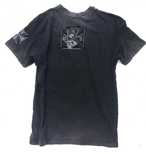West Coast Choppers T-Shirt Cash Only Tee Black/Grey