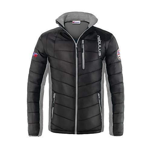 Nebulus Glossy Jacke GRAPH - Stehkragen, Winterjacke (Modell: P2460 - Herren, schwarz-grau; Größe: M) FBA