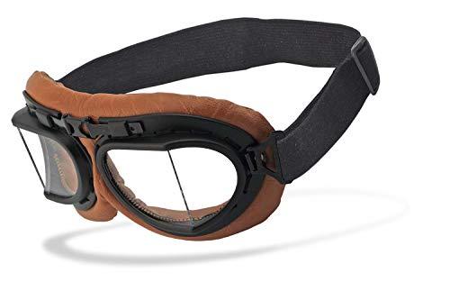 Helly® - No.1 Bikereyes® | UV400 Schutzfilter, HLT® Kunststoff-Sicherheitsglas nach DIN EN 166 | Motorradbrille | Brillengestell: schwarz, braun matt, Brille: rb-2