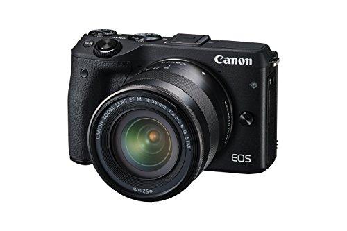 Canon EOS M3 Kit Fotocamera Mirrorless da 24 Megapixel con Obiettivo EF-M 18-55...
