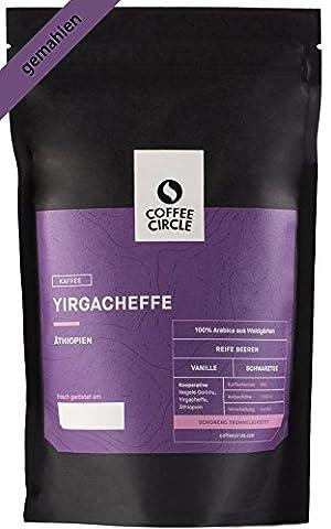 Coffee Circle - Premium Bio Kaffee - Yirgacheffe - Ausgewogener gemahlener Filterkaffee aus dem Hochland Äthiopiens - fairer & direkter Handel - 100% Arabica - frisch & schonend geröstet - 350g Kaffeepulver