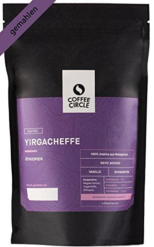 Coffee Circle | Premium Kaffee Yirgacheffe | 350g gemahlen | Fruchtiger Bio Filterkaffee aus...