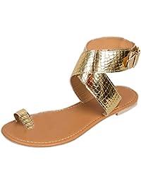 Beladla Sandalias Mujer Tacon Bajo Zapatos De La Playa De Bohemia del Verano De Las Nuevas