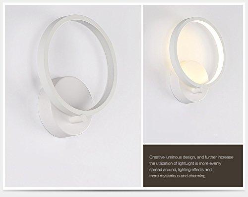 Lightess lampada da parete elegante a led w stile moderno