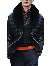 Cappotto Moda Uomo Tenere Caldo Ispessimento Giacca Cappotto in Pelle  Outwear Cardigan Moda Accogliente Cosy Selvaggia 69f9aefa208