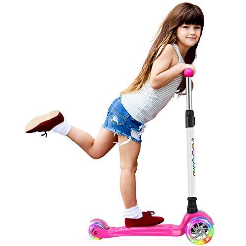 ASS COLORATI 3 RUOTA Bambini push scooter Lampeggiante Led Ruote Regolabile Pieghevole