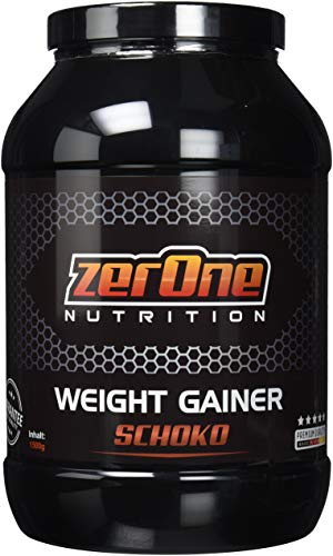 Weight Gainer Hochdosiertes Pulver | hochwertige Kohlenhydrate & Proteine | Masseaufbau| Deutsche Premium Qualität | Hafer-Gerste | 1500g (Schoko) -