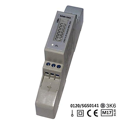 Preisvergleich Produktbild SDM120D MID - digitaler LCD Wechselstromzähler für Hutschiene mit S0, geeicht / MID zugelassen