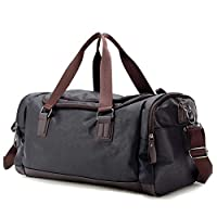 Xiaoningmeng Duffel Bag, Leather Shoulder Bag, Handbag, (size: 49 * 22 * 25), Classic Multi-color Option, Waterproof And Wearable Large Capacity, Travel Storage Essential (Color : Black)