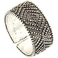 Anello a fascia in filigrana d'argento Pibiones