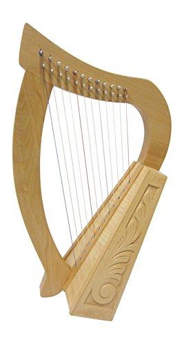 Irisch Keltische Kinder Harfe Harp 12 Saiten aus Buche