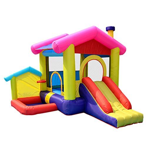 XGYUII Kinder Hüpfburg Wasserrutsche Türsteher Haus Fan Klettern Rutschen Sport Spielzeug Indoor Trampolin Männliche und weibliche Sommer Spielzeug Disney