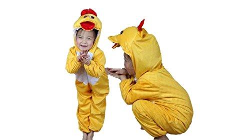 Ente Kostüm Kinder - Kinder Tierkostüme Jungen Mädchen Unisex Kostüm Outfit Cosplay Kinder Strampelanzug (Ente, XL (Für Kinder von 120 bis 140 cm))
