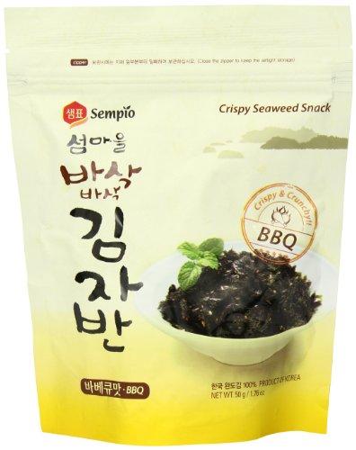 Sempio Seealgen Snack BBQ Crispy & Crunchy, 4er Pack (4 x 50 g)