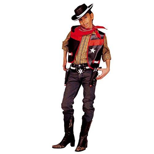 NET TOYS Cowboy Kostüm für Jungen Cowboyweste Kinderkostüm 140 cm (8-10 Jahre) Cowboykostüm Set Revolverheld Kostüm Kinder Wilder Westen Sheriff Sheriffkostüm Gaucho (Wilder Westen Revolverheld Kostüm)