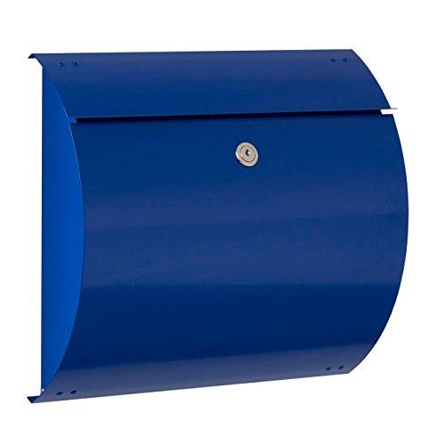 Max Knobloch Briefkasten Honolulu ultramarineblau (RAL 5002) 10 Liter Wandbriefkasten