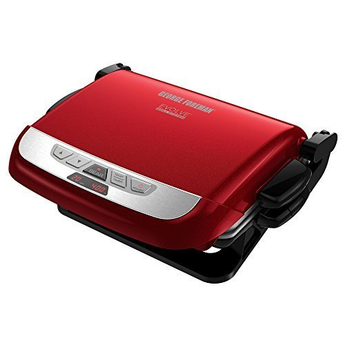 george-foreman-grp4800r-4-in-1-multi-plate-evolve-grill-grilling-baking-and-cupcake-plates-included-