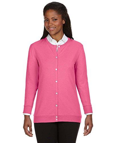 Ladies' Perfect Fit� Ribbon Cardigan CHARITY PINK XL
