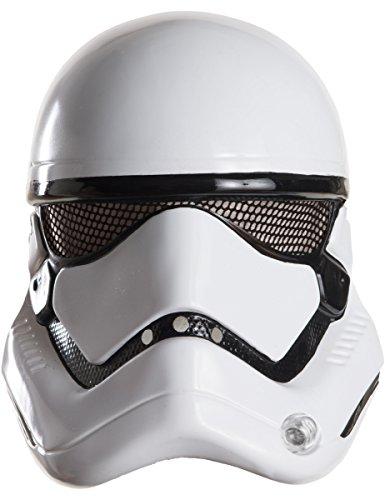 KULTFAKTOR GmbH Stormtrooper-Maske Star Wars Lizenzartikel Weiss-schwarz Einheitsgröße (Wars Star Kunststoff-masken)