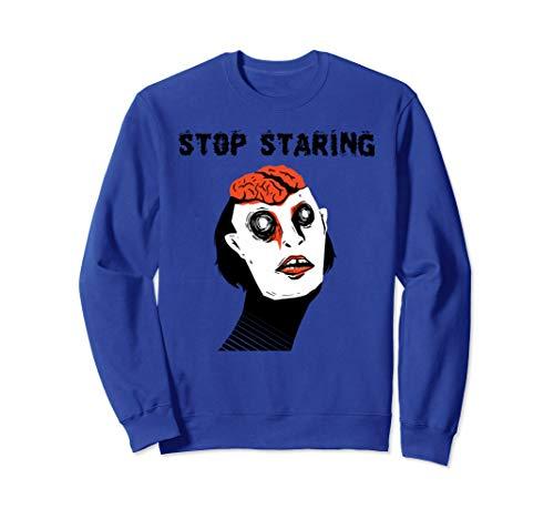 Lustige Zombie-Gehirne stoppen starren wirklich beängstigend Sweatshirt (Beängstigend Kostüm Für Jugendliche)