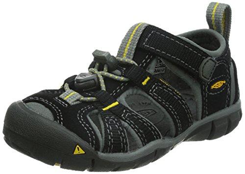 Keen Unisex-Kinder Seacamp II Cnx Trekking-& Wandersandalen, Schwarz (Black/Yellow), 39 EU