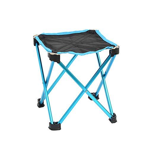 Homvik Taburete Plegable Silla Portátil de Aleación de Aluminio Ultraligera con Bolsa de Almacenamiento para Senderismo Campamento Pesca Caza Viaje Playa Barbacoa al Aire Libre 23x23x26cm - Azul
