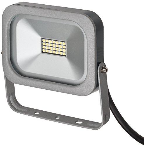 Brennenstuhl Projecteur LED Compact Slim 950 lumens (10W, IP54, 0,3m de câble), Argent