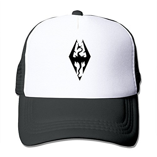 Preisvergleich Produktbild XCarmen Black Game The Elder Scrolls V Skyrim Baseball Caps Vintage Snapbacks Black