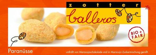 Zotter Balleros Paranüsse in Maracujaschokolade, 1er Pack (1 x 100 g) - Bio