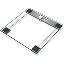Beurer GS 11 - Báscula de baño de Vidrio, pantalla LCD, 150 kg /