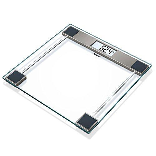 Beurer Cristal GS 11 Glaswaage, Digitale Personenwaage mit LCD-Display, 150 kg Tragkraft, transparent