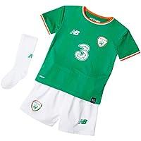 New Balance de los niños oficial Fai Irlanda casa bebé fútbol Kit con Jersey/Pantalones cortos/calcetines, Infantil, color Jolly Green/White, tamaño 3 - 6 m