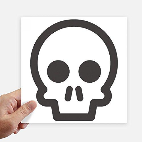 DIYthinker Fun Skeleton Netter Online Chat Emoji Quadrataufkleber 20Cm Wand Koffer Laptop Motobike Aufkleber 4Pcs 20Cm X 20Cm Mehrfarbig