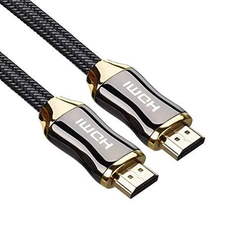 ULTRICS HDMI Kabel 5 Meter, 4K HDMI 2.0 Schnell Geschwindigkeit 18Gbps Ethernet, Vergoldete Steckverbinder, Nylongeflochtene Schnur, Audio Return, HD Video 1080p 2160p, 3D für Gaming Xbox PC LED TV 1080i Pc