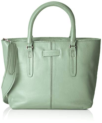 Leder Shopper Medium (Liebeskind Berlin Damen Essential Satchel Medium Henkeltasche, Grün (Hedge Green), 11x25x27 cm)