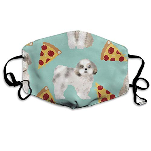 WBinHua Masken, Masken für Erwachsene, Mask Face, Mouth Mask, Breathable Mask Anti Dust, Unisex Shih Tzu Dog Funny Pizza Printed Cotton Mouth-Masks Face Mask Polyester Anti-dust ()