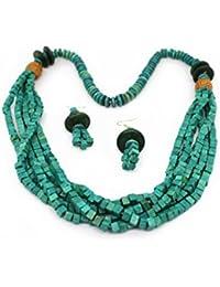 More Bangla Green Forest Wood Jewellary Set