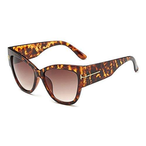 HeiPlaine Schutz Sonnenbrillen 2016 Cat Eye tf Sonnenbrille Frauen Markendesigner Vintage Luxury Street Snap Sonnenbrille Retro De Sol Feminino Gafas Gläser Fahren (Farbe : BL96894 C4 Brown Lep)