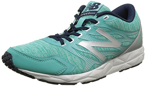 New Balance W590RA5-590 - Scarpe Running Donna, Multicolore (Green/Silver 316), 37.5 EU