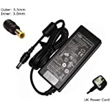 """Laptop Charger for Samsung 19V 3.15A AD6019 AD 6019 0335C1960 ADP-60ZH Compatible Replacement Laptop Charger Adapter Adaptor (with UK P/cord and 12 month warranty) - """"Laptop Power UK"""" (TM) Branded"""