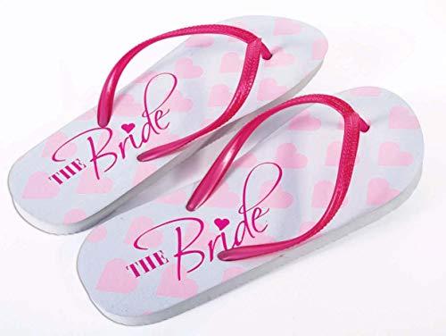 Forum Novelties Braut Flip Flops, Pink