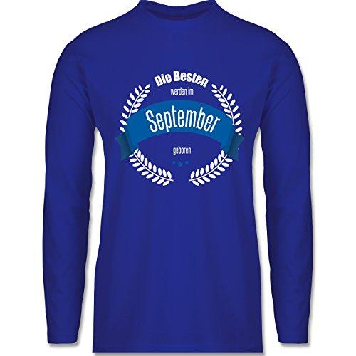 Geburtstag - Die Besten werden im September geboren - Longsleeve / langärmeliges T-Shirt für Herren Royalblau