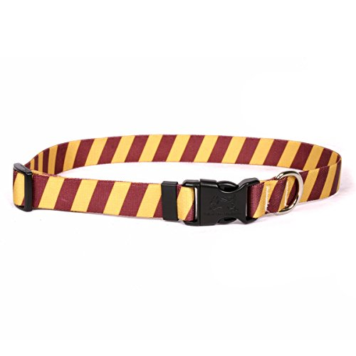 Maroon-design (Yellow Dog Design Team Spirit Maroon und Gold Hundehalsband)