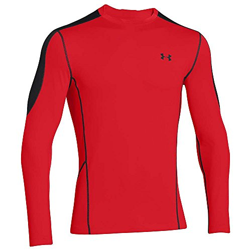 Under Armour Herren Top Evo CG Fitted Hybrid Risk Red / Black