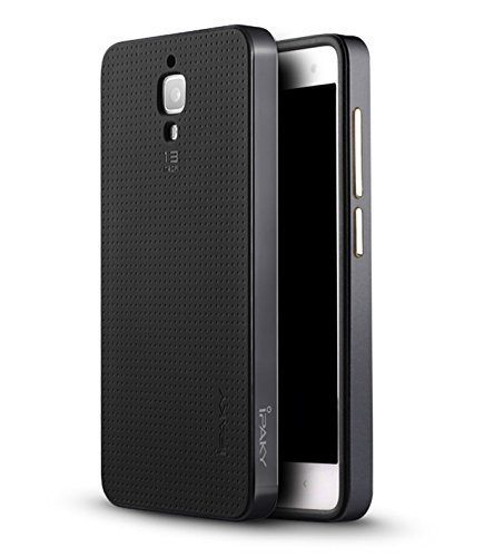 AE (TM) xiaomi Mi4 100% Original Luxury Neo Hybrid Armor w Frame Silicone Case Back cover for xiaomi mi4 Smartphone - BLACK