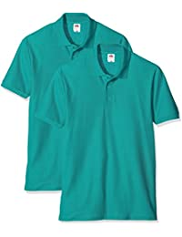 Fruit of the Loom Men's 65/35 Pique Polo Shirt (Pack of 2)