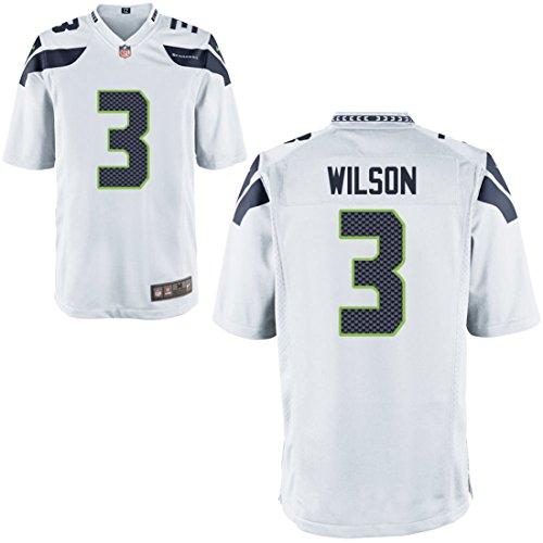 Preisvergleich Produktbild 3 Russell Wilson Trikot Seattle Seahawks Jersey American Football Shirt Mens White Size XL(48)