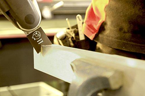 100 E-Cut Sägeblätter MUB 028 long-life Universal 28 mm. ++ preisgünstige Markenqualität ++ Mit Bi Metall Universalverzahnung und Multifunktionsaufnahme. Das Profi-Zubehör für Ihr oszillierendes Multifunktionswerkzeug passend für AEG, BOSCH, CRAFTSMAN, EINHELL, FEIN, MASTERCRAFT, MILWAUKEE, RIGID, SKIL und viele mehr ... - Das Original seit 1997 vom Schweizer Erfinder. Produzierte bisher für den Weltmarktführer. ++ extrem scharf ++ sehr hohe Standzeiten ++